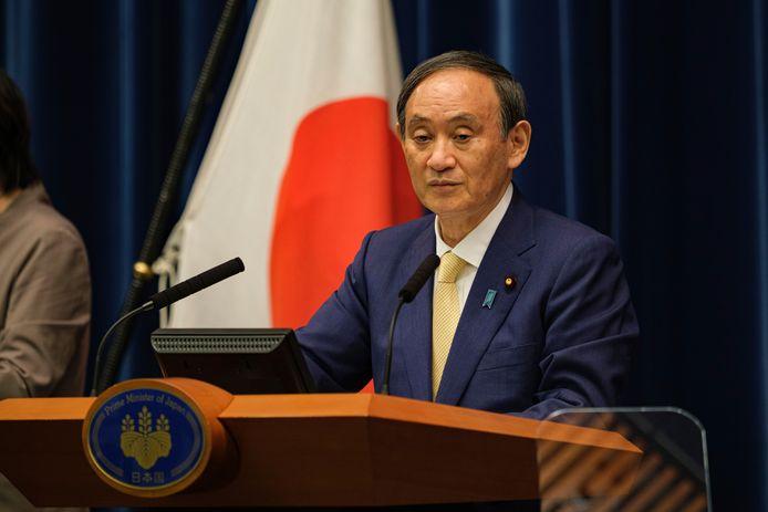 Yoshihide Suga, Premier ministre japonais.
