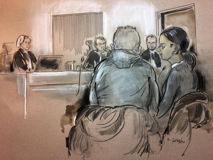 Paul O. en Najma Z. tijdens een eerdere rechtszitting.