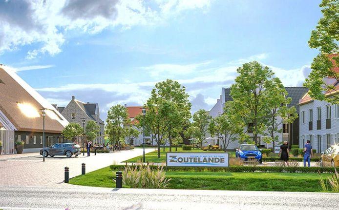 Artist's impression van Hotel resort Zoutelande bij Biggekerke.