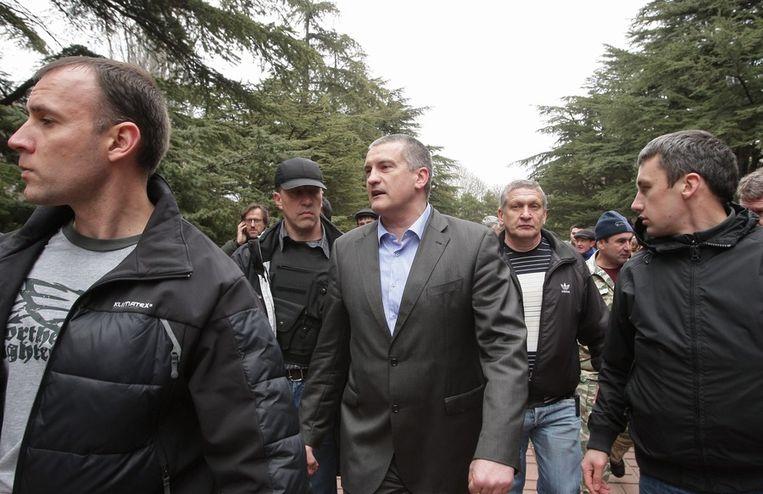 De nieuwe pro-Russische premier van de autonome Krimrepubliek, Sergej Aksjonov Beeld EPA