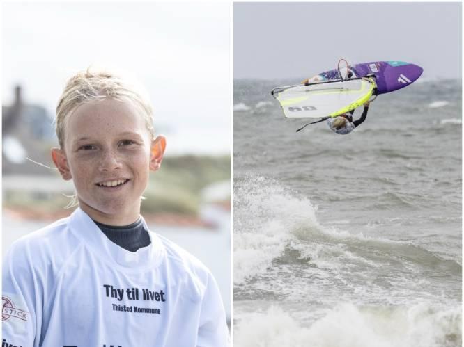 """Arthur (13) is nu al wereldkampioen windsurfen: """"Vóór mijn 15de verjaardag wil ik een dubbele voorwaartse salto kunnen maken"""""""