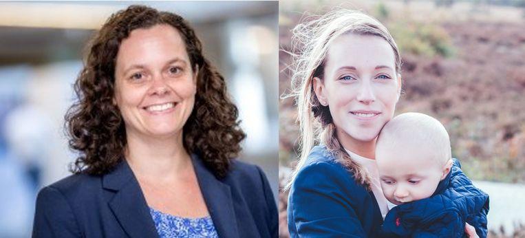 Links: Sjoukje Bakker. Rechts: Anne Wilmink. Beeld