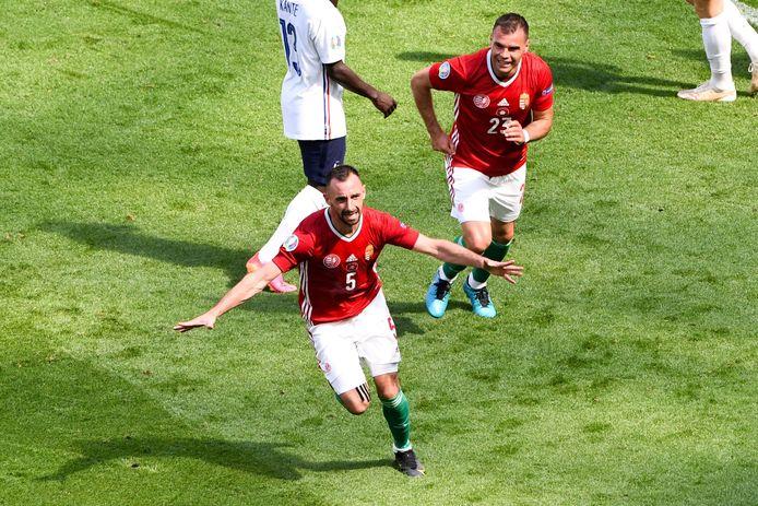 Fiola schoot de Hongaren op slag van rust op voorsprong.