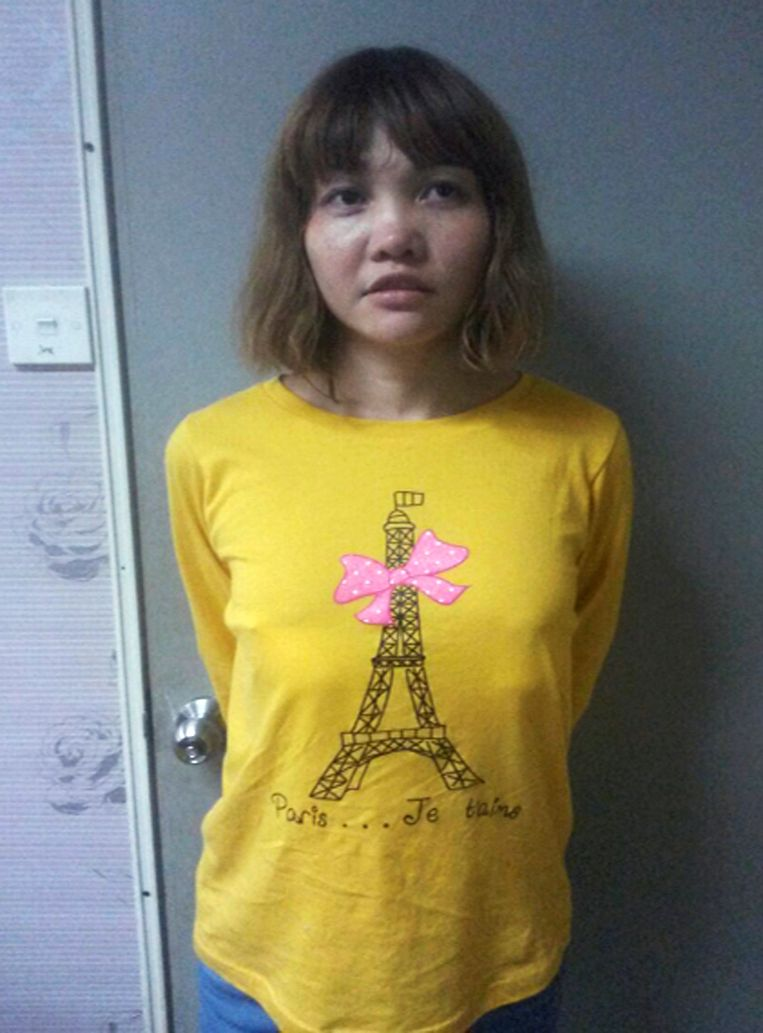 De Vietnamese Doan Thi Huong, intussen  bekend als de LOL-moordenares. Beeld REUTERS