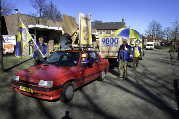 Inwoners van Son en Breugel protesteerden al eerder tegen herindeling.