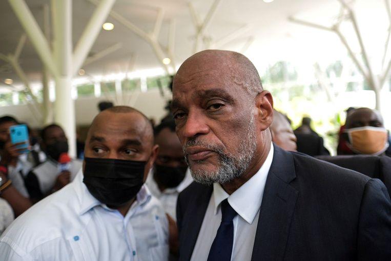 Ariel Henry werd door de vermoorde president Jovenel Moïse tot premier benoemd, en komt nu zelf in het vizier van onderzoekers. Beeld Reuters