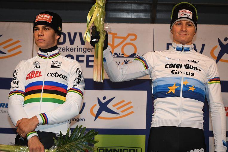 Wout van Aert en Mathieu van der Poel.