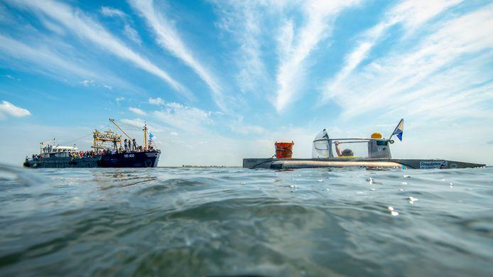 Met onderzeeboot Drebbel werden de mosselen boven water gehaald.
