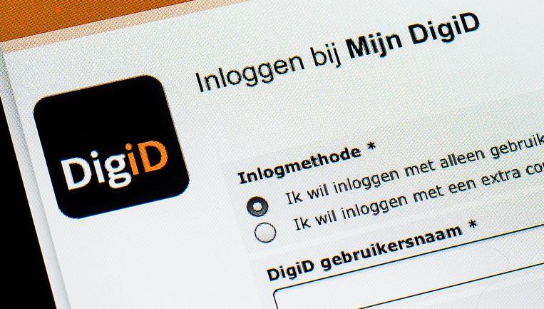 De website van DigiD. Om een account op MijnOverheid te activeren, moet je inloggen met een persoonlijke DigiD.  Beeld ANP XTRA, Remko de Waal