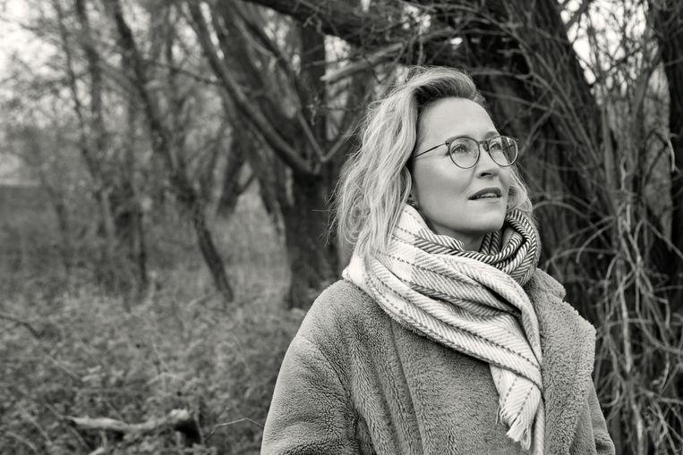 Veenhoven vierde haar 46ste verjaardag coronaproof.  Beeld Jeroen Hoffman