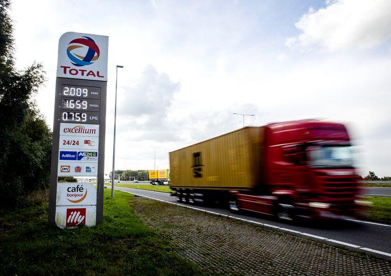 De benzineprijzen lopen snel op, en er is meer dat duurder wordt. Die inflatie heeft diverse oorzaken, maar veel heeft te maken met een economie die door corona stilviel en nu met veel lawaai weer op gang is gekomen. Beeld Hollandse Hoogte /  ANP