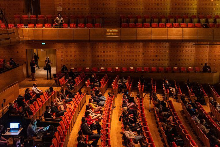 Voor het eerst sinds lang was er weer publiek in de Koningin Elisabethzaal. Beeld Wouter Maeckelberghe