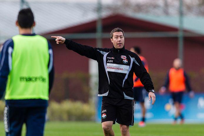 Jan de Hoon bij een training van zijn vroegere club Willem II.