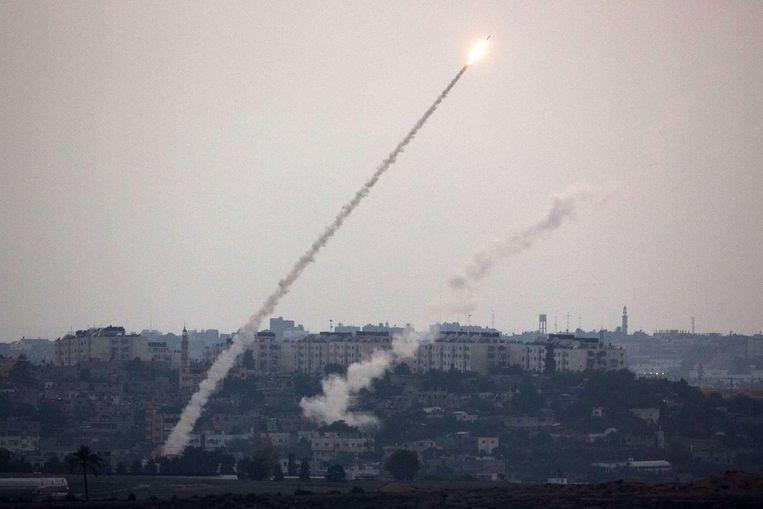 Raketten worden afgevuurd vanuit Gaza Beeld afp