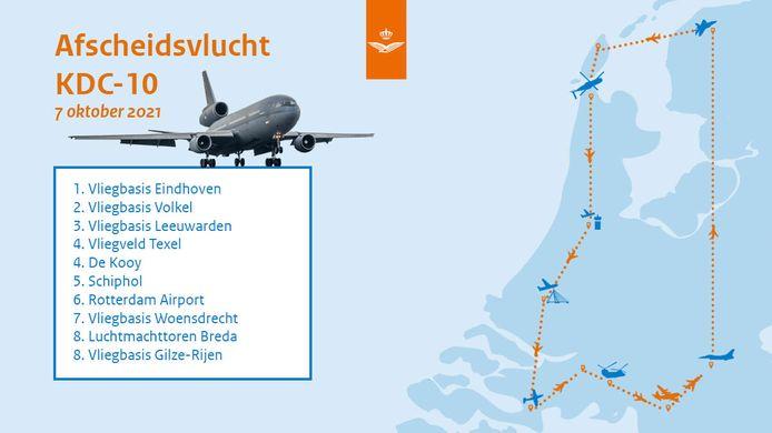 Afscheidsrondje boven Nederland