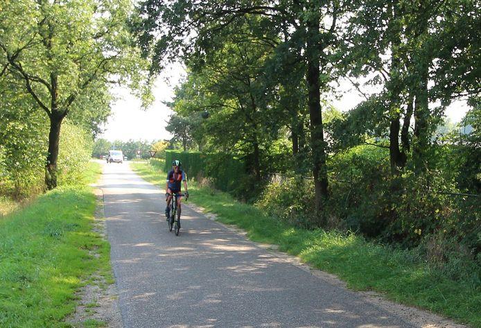 Oversteken bij de rustieke Molenweg is er niet meer bij als de zuidelijke tak van de randweg klaar is. Wel komt er een fietspad. Het busje (achterin beeld) komt vanaf de Vorenseindseweg.