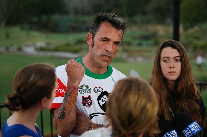 Laurent Hayez, le père de Théo, et Lisa Hayez, sa cousine.