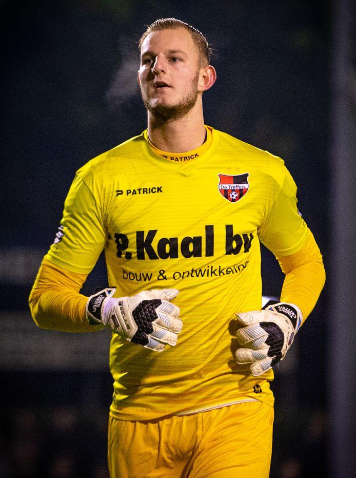 Dani Centen als doelman van De Treffers.