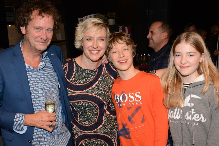 Katrien De Becker en haar partner vriend Johan De Paepe en kinderen Katrien Georges & Emely