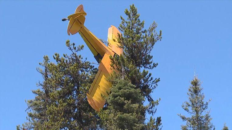 Brandweerman redt piloot uit 18 meter hoge boom