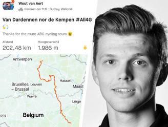 Wout van Aert eert overleden ploegmaat Michael Goolaerts met lange training