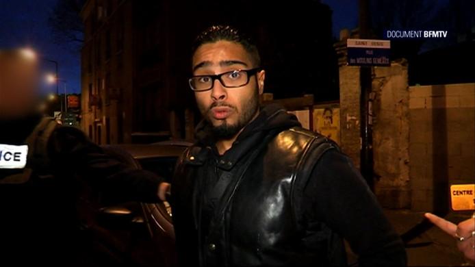 Jawad Bendaoud, hier in een video van tv-zender BFMTV, werd vandaag vrijgesproken