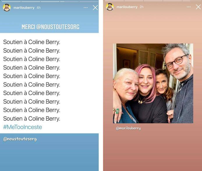 Marilou Berry a apporté son soutien à sa cousine Coline sur Instagram.