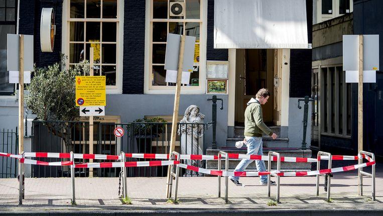 De gewilde borden op de Nieuwezijds Voorburgwal. Beeld anp