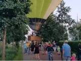 Omwonenden redden luchtballon in Nijkerk