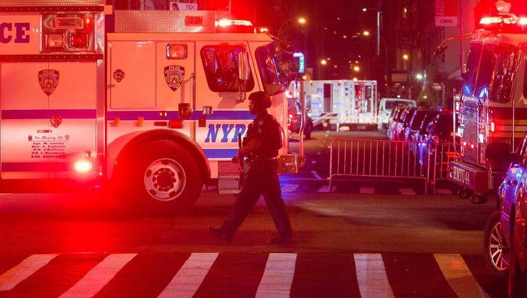 Brandweerwagens vlakbij de plek van de explosie Beeld ap