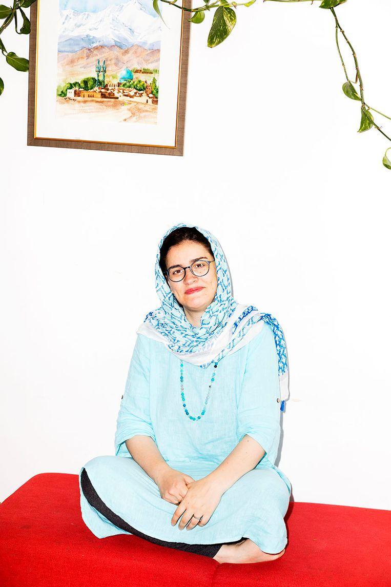 Sara Ramezani: 'I always sold myself as 'a geek with social skills.' Beeld Marie Wanders