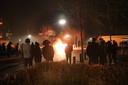 Auto in brand op de beruchte kruising in Veen.