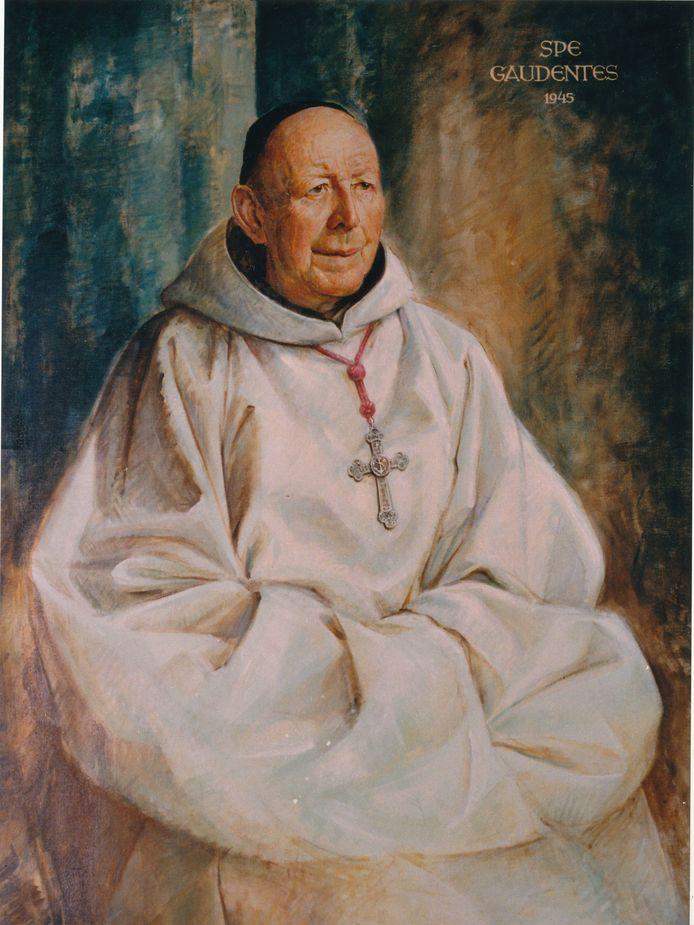 Olieverfportret van Willibrord van Dijk als abt van de paters trappisten van Koningshoeven