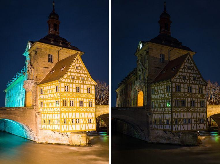 Het stadhuis in Bamberg, Duitsland. Beeld epa