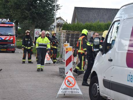 Straat Woubrugge afgezet wegens gaslek