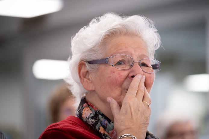 Hilde Maes was tot tranen geroerd door het optreden.