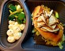 Cheesecake, risotto met boleet, gado gado (kapsalon), hoender met aardappelmousseline op spitskool. gerechten Not Out