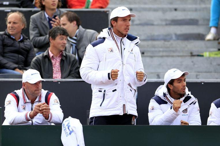 Amsterdammer Igor Sijsling miste onlangs vanwege lichte griep de Davis Cup-ontmoeting met Zwitserland. Beeld pro shots