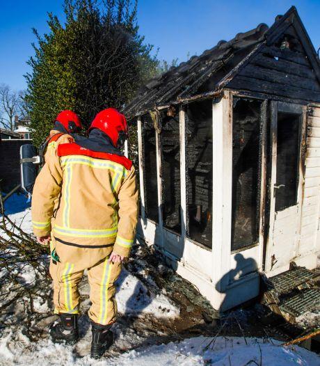 Tuinhuisje in Heeze verwoest door brand