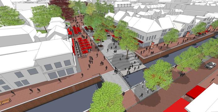 Een trap verbindt straks de Markt met de haven.