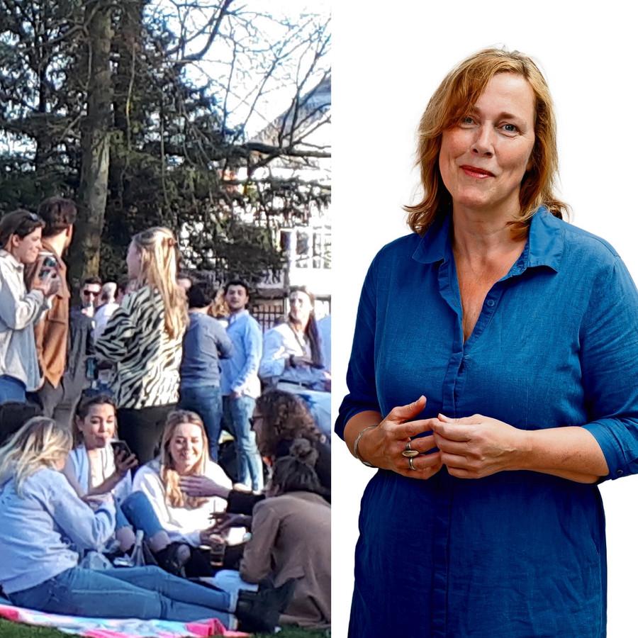 column Yolanda Sjoukes coronamaatregelen park horeca terrassen