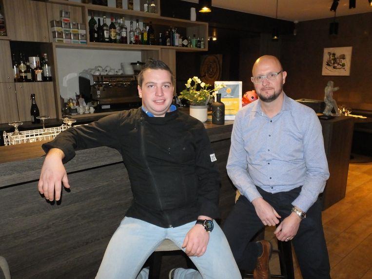 Jo Taveirne en Kristof Baertsoen in restaurant Bastide 71.
