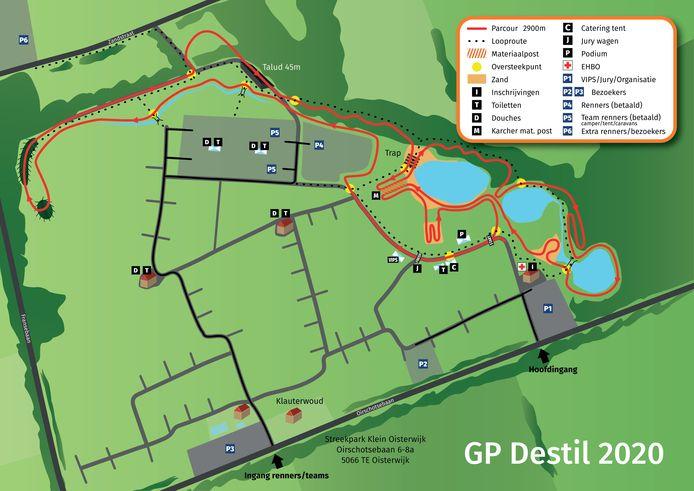 Plattegrond GP Destil (Streekpark Klein Oisterwijk)