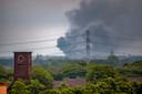 Vanaf de kermis in Tilburg is de grote brand in Oisterwijk te zien de Nederlander Oisterwijk