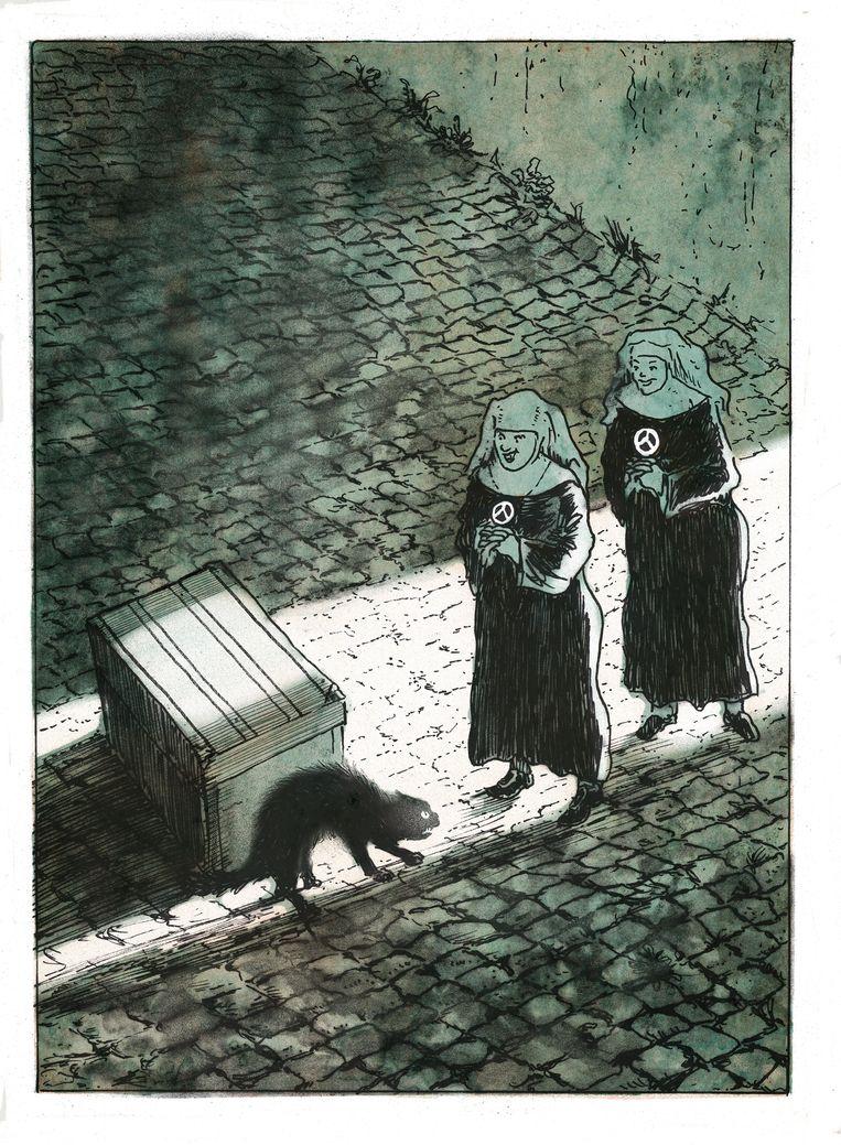 Fragment uit Uiltje Engnek. Beeld Edwin Hagendoorn