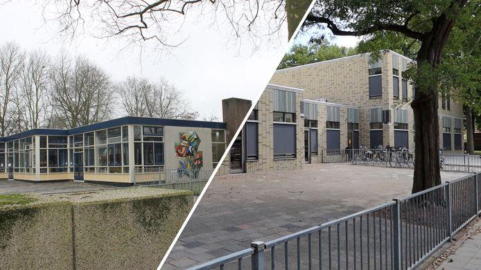 Basisschool De Schakel in Vlaardingen, voor en na de renovatie.