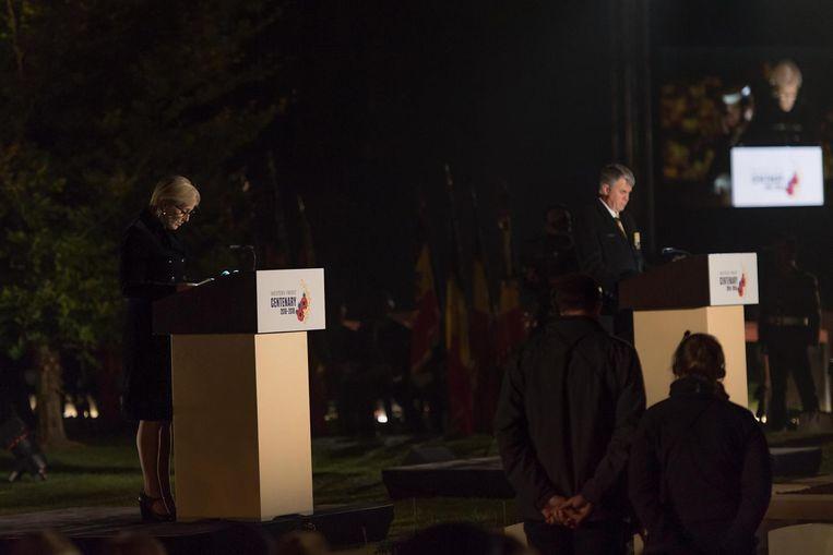 Prinses Astrid gaf een speech tijdens de plechtigheid.