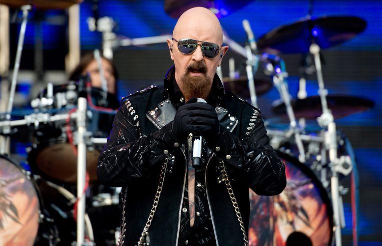 Rob Halford (Judas Priest) op het festival Rockavaria in München.
