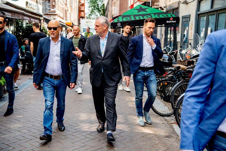 Advocaten Peter Schouten en Onno de Jong vormden samen met De Vries het verdedigingsteam van kroongetuige Nabil B..  Beeld ROBIN UTRECHT