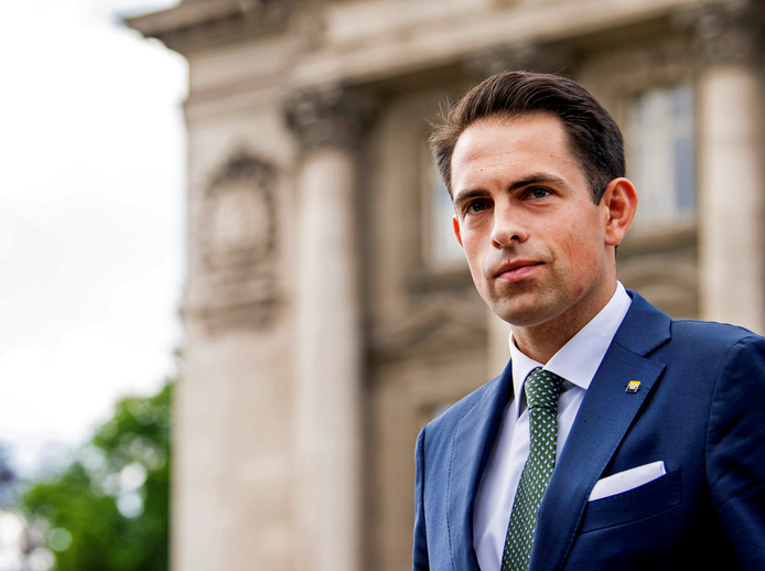 Le président du Vlaams Belang Tom Van Grieken.